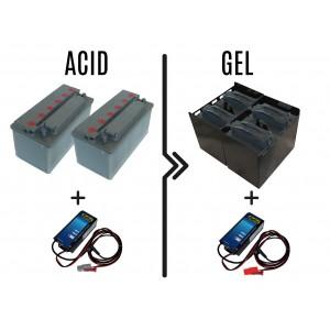 Τιμή diff.from 72 / 96Α οξέος σε 180 / 240Α μπαταρίες GEL, batt.charger incl.